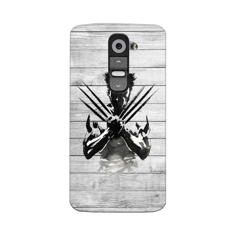 Mangomask LG G2 Mobile Phone Case Back Cover Custom Printed Designer Series Wolverine
