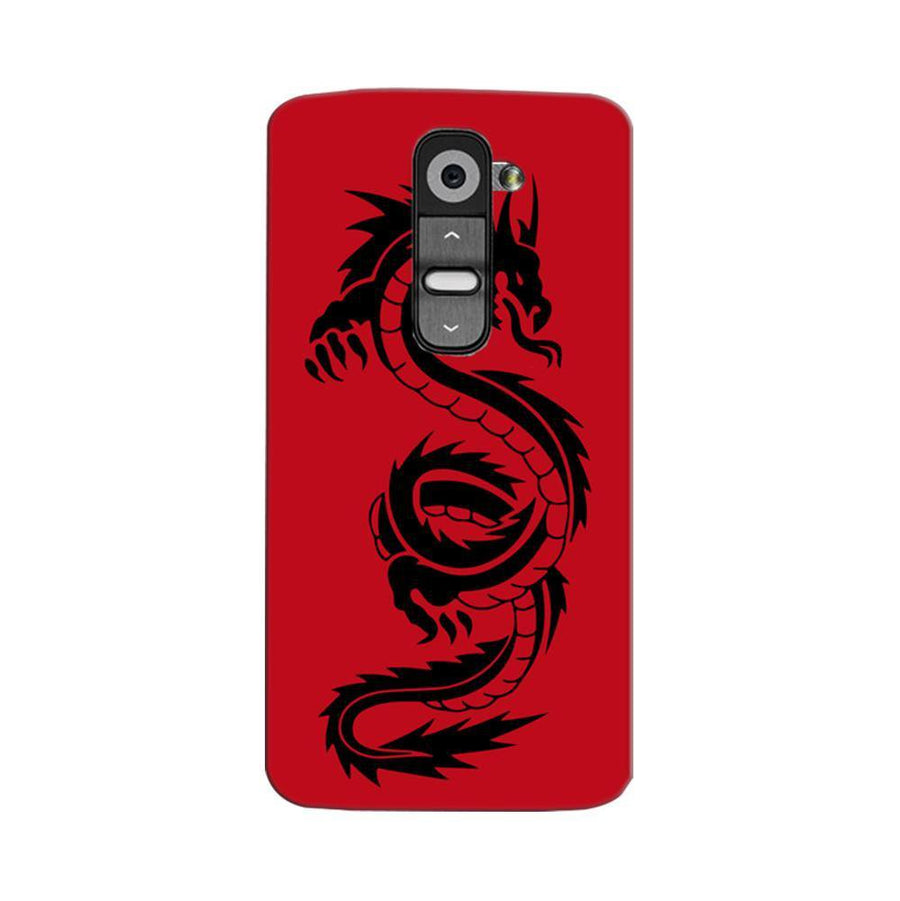 Mangomask LG G2 Mobile Phone Case Back Cover Custom Printed Designer Series Red Dragon