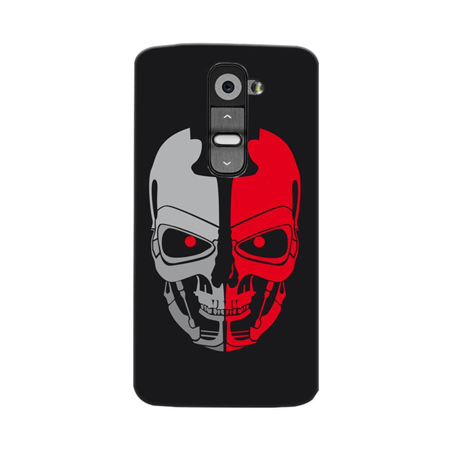 Mangomask LG G2 Mobile Phone Case Back Cover Custom Printed Designer Series Scary Red Skull