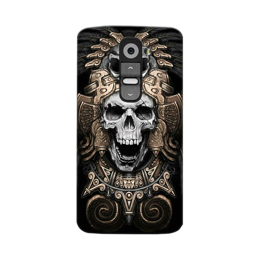 Mangomask LG G2 Mobile Phone Case Back Cover Custom Printed Designer Series Skull Crown