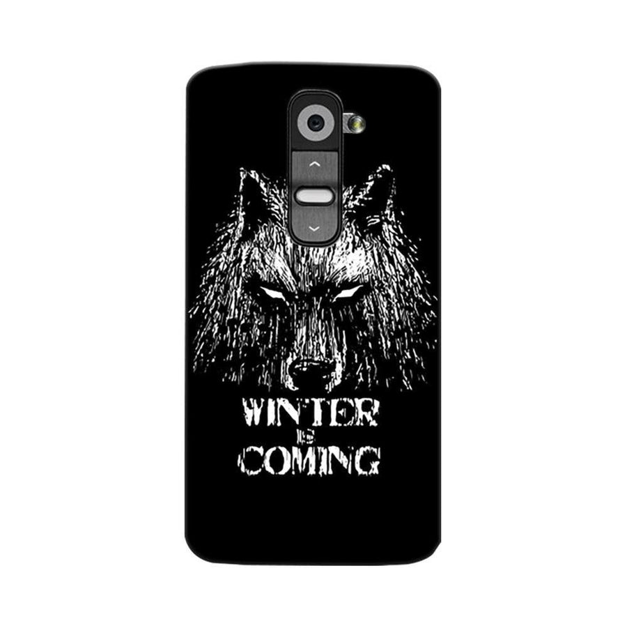 Mangomask LG G2 Mobile Phone Case Back Cover Custom Printed Designer Series Wolf Winter Is Coming Game Of Thrones (Got) House Stark