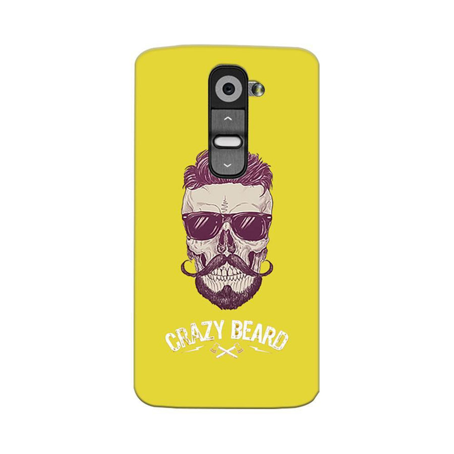 Mangomask LG G2 Mobile Phone Case Back Cover Custom Printed Designer Series Yellow Hipster Skull