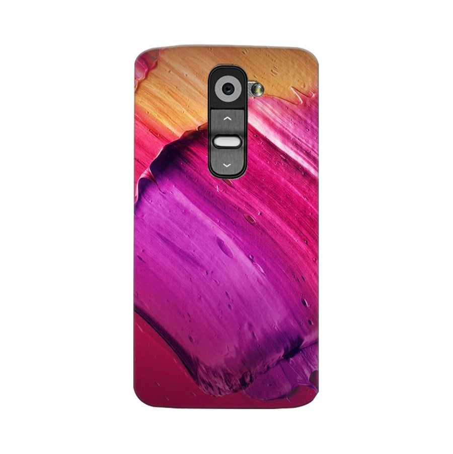 Mangomask LG G2 Mobile Phone Case Back Cover Custom Printed Designer Series Purple Pink Brusk Strokes