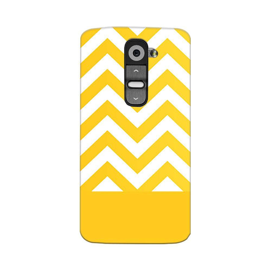 Mangomask LG G2 Mobile Phone Case Back Cover Custom Printed Designer Series Yellow White Pattern