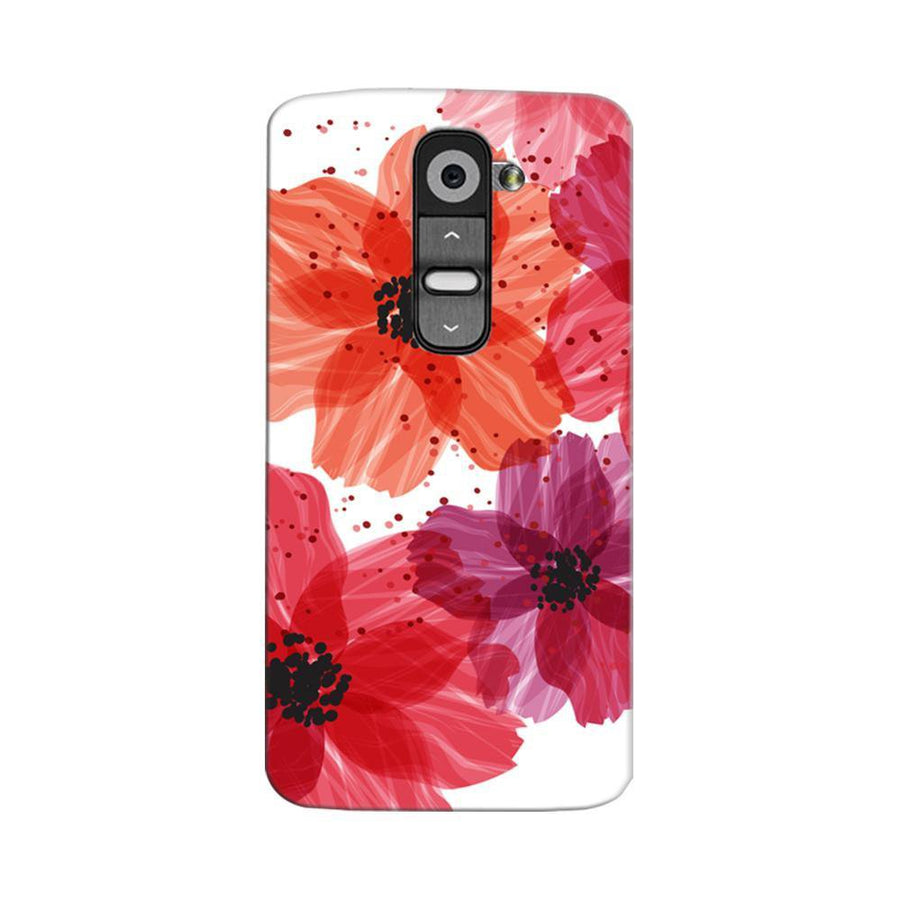 Mangomask LG G2 Mobile Phone Case Back Cover Custom Printed Designer Series Red Floral One