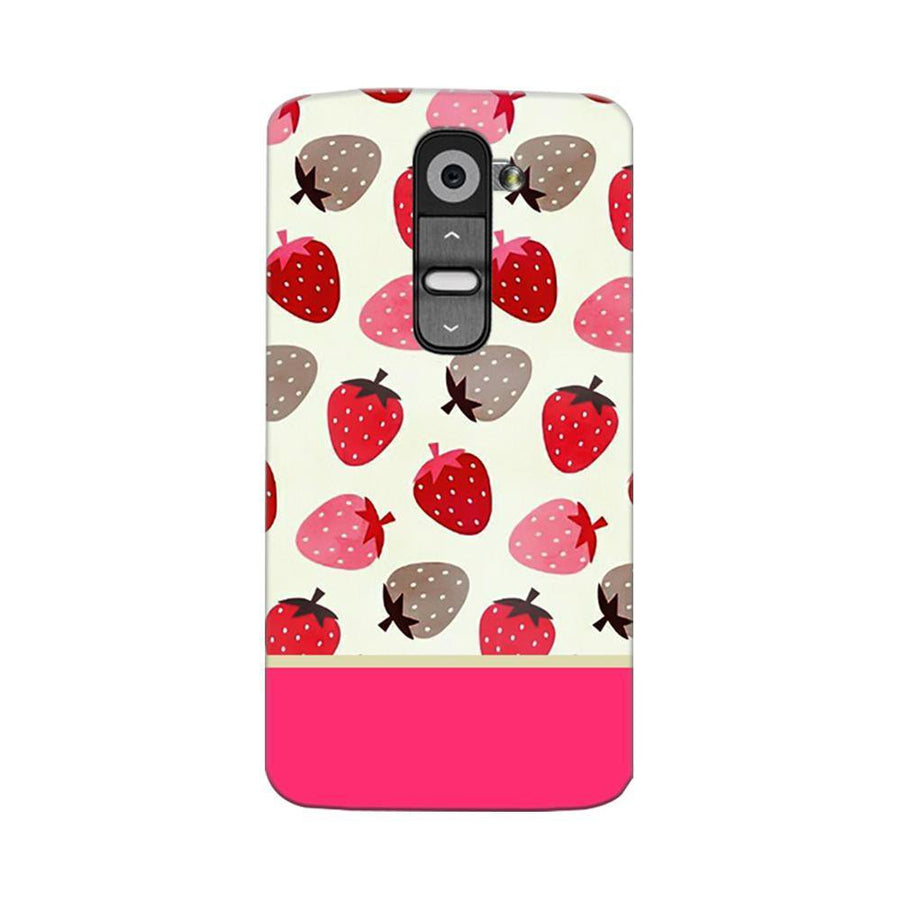 Mangomask LG G2 Mobile Phone Case Back Cover Custom Printed Designer Series Red And Pink Strawberries