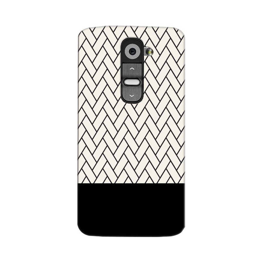 Mangomask LG G2 Mobile Phone Case Back Cover Custom Printed Designer Series White And Black Boxes Pattern Two