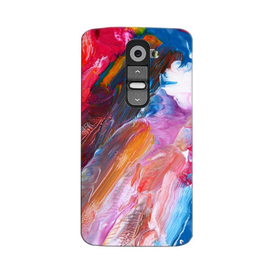 Mangomask LG G2 Mobile Phone Case Back Cover Custom Printed Designer Series Red And Blue Brush Strokes
