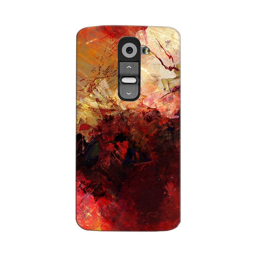 Mangomask LG G2 Mobile Phone Case Back Cover Custom Printed Designer Series Red And Gold Brush Strokes