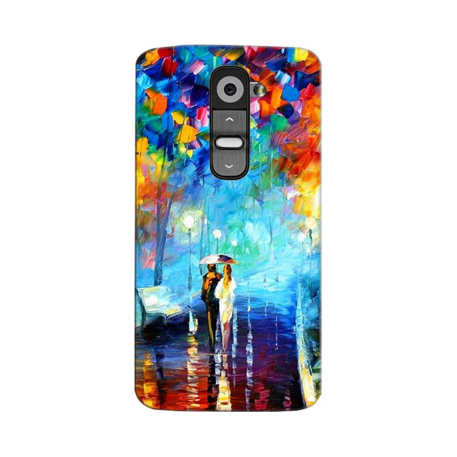 Mangomask LG G2 Mobile Phone Case Back Cover Custom Printed Designer Series Romantic Couple Walk