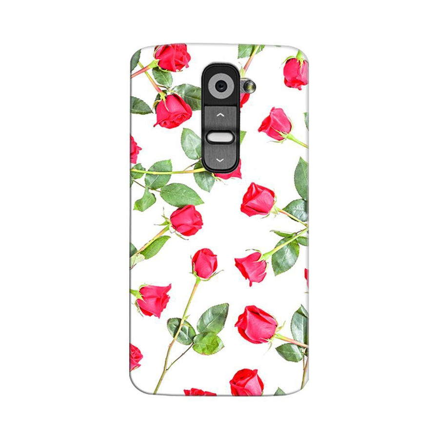 Mangomask LG G2 Mobile Phone Case Back Cover Custom Printed Designer Series Red Roses Floral