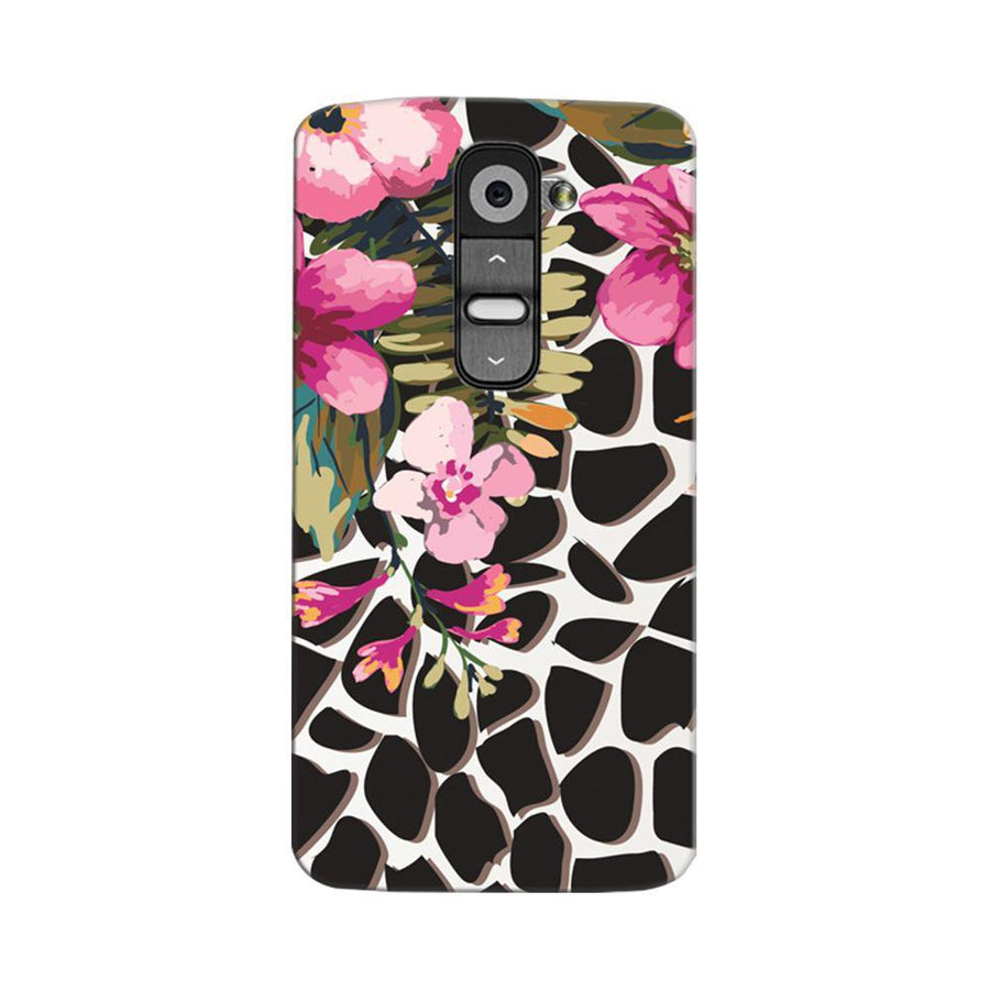 Mangomask LG G2 Mobile Phone Case Back Cover Custom Printed Designer Series Zebra Pink Floral