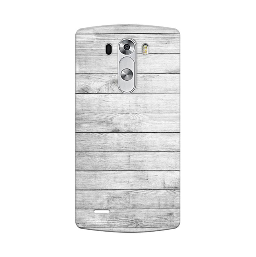 Mangomask LG G3 Stylus Mobile Phone Case Back Cover Custom Printed Designer Series White Wood Two