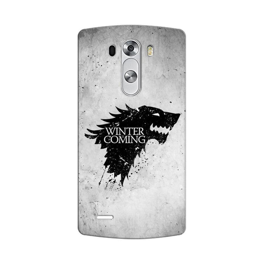 Mangomask LG G3 Stylus Mobile Phone Case Back Cover Custom Printed Designer Series White Winter Is Coming Game Of Throne (Got) House Stark
