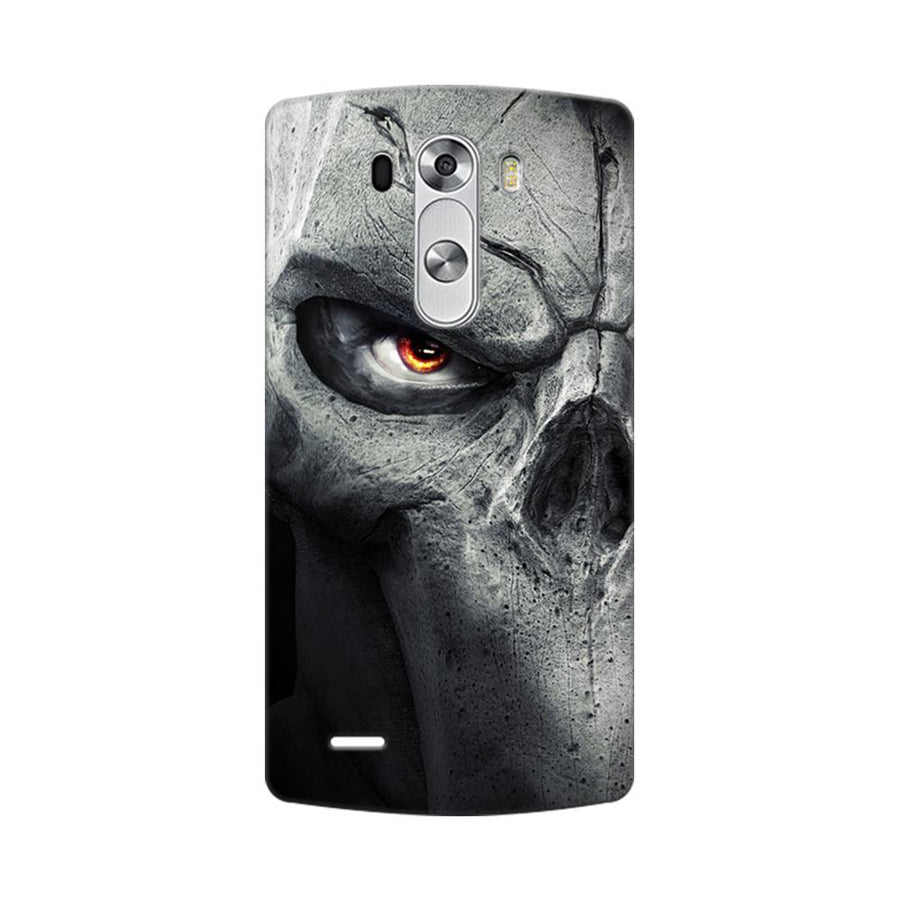 Mangomask LG G3 Stylus Mobile Phone Case Back Cover Custom Printed Designer Series Serious Skull