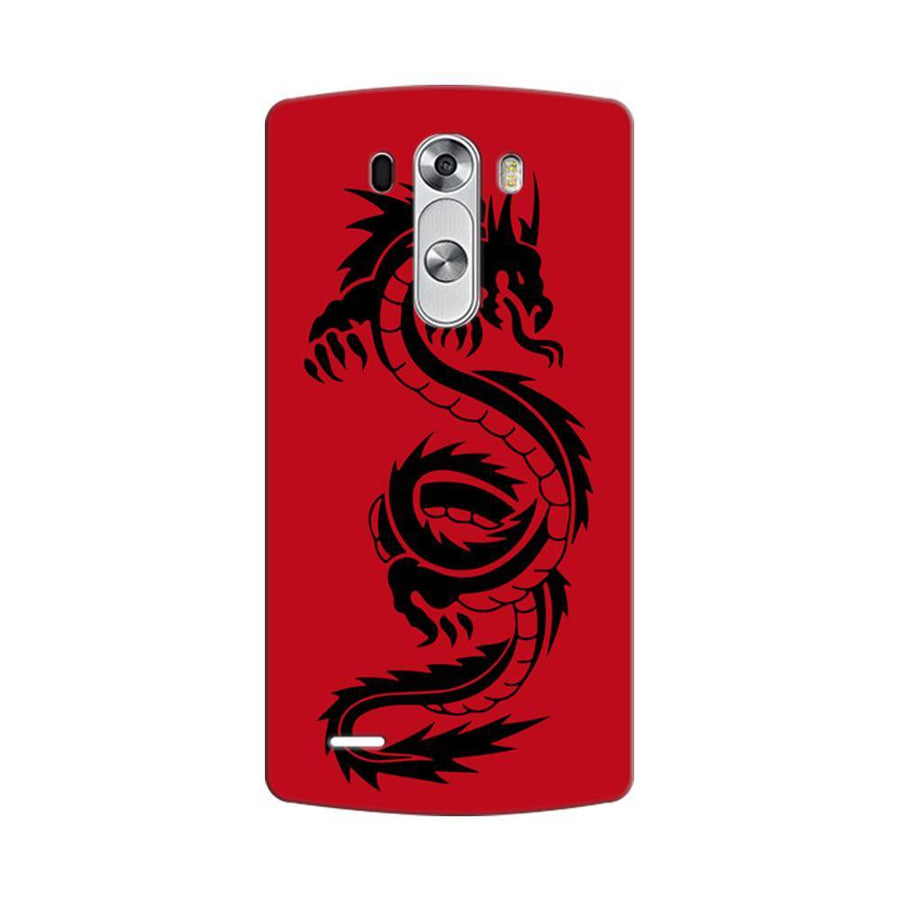 Mangomask LG G3 Stylus Mobile Phone Case Back Cover Custom Printed Designer Series Red Dragon