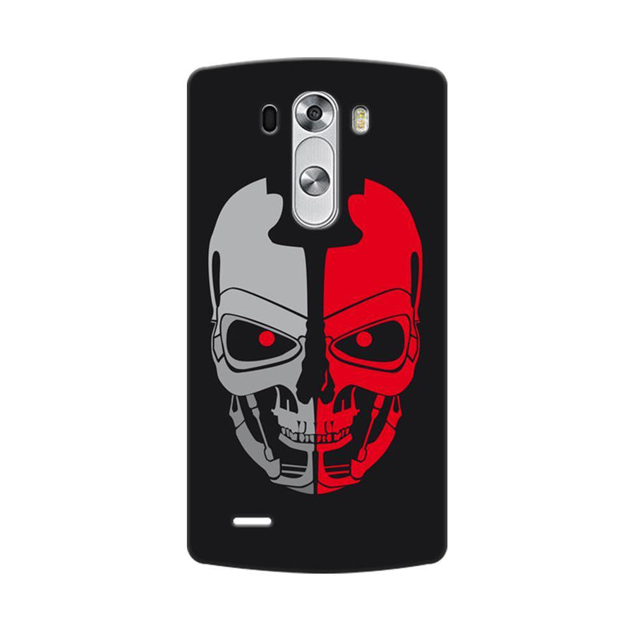Mangomask LG G3 Stylus Mobile Phone Case Back Cover Custom Printed Designer Series Scary Red Skull