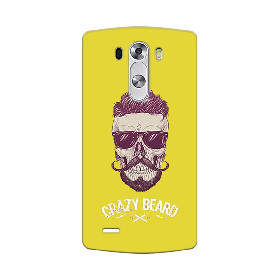 Mangomask LG G3 Stylus Mobile Phone Case Back Cover Custom Printed Designer Series Yellow Hipster Skull