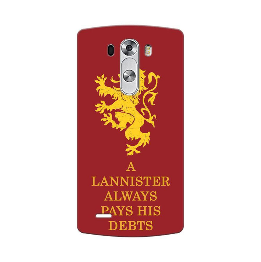 Mangomask LG G3 Stylus Mobile Phone Case Back Cover Custom Printed Designer Series A Lannister Always Pays His Debts Game Of Thrones (Got)