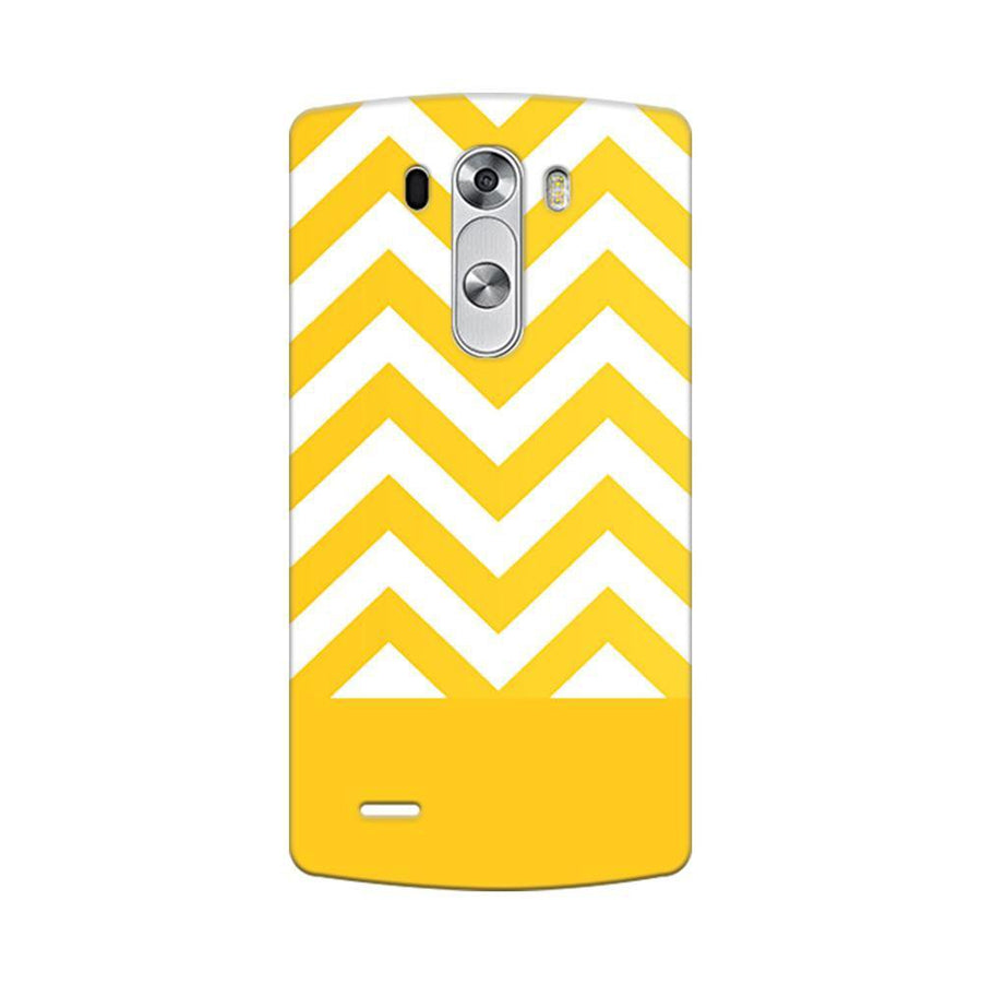 Mangomask LG G3 Stylus Mobile Phone Case Back Cover Custom Printed Designer Series Yellow White Pattern