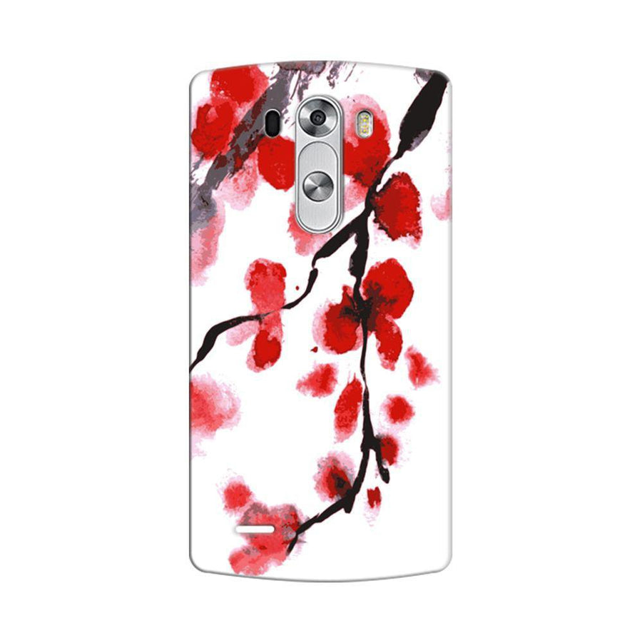Mangomask LG G3 Stylus Mobile Phone Case Back Cover Custom Printed Designer Series Red And White Black Floral