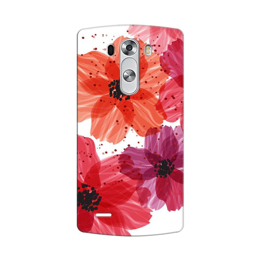 Mangomask LG G3 Stylus Mobile Phone Case Back Cover Custom Printed Designer Series Red Floral One