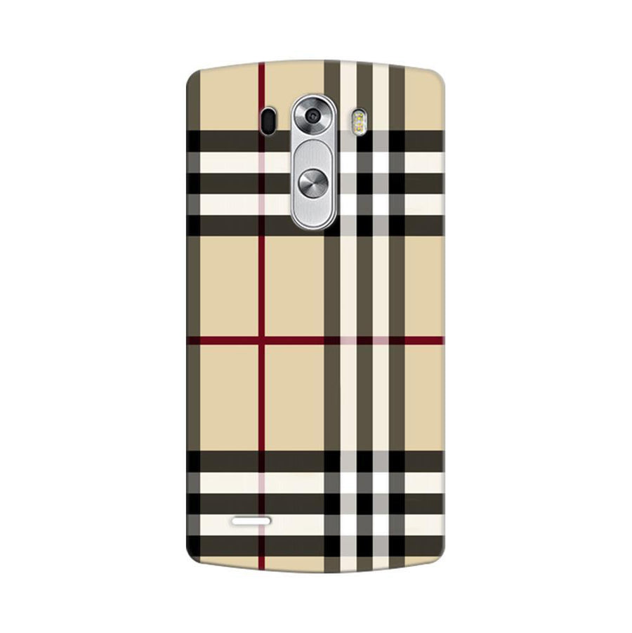 Mangomask LG G3 Stylus Mobile Phone Case Back Cover Custom Printed Designer Series Burberry Pattern
