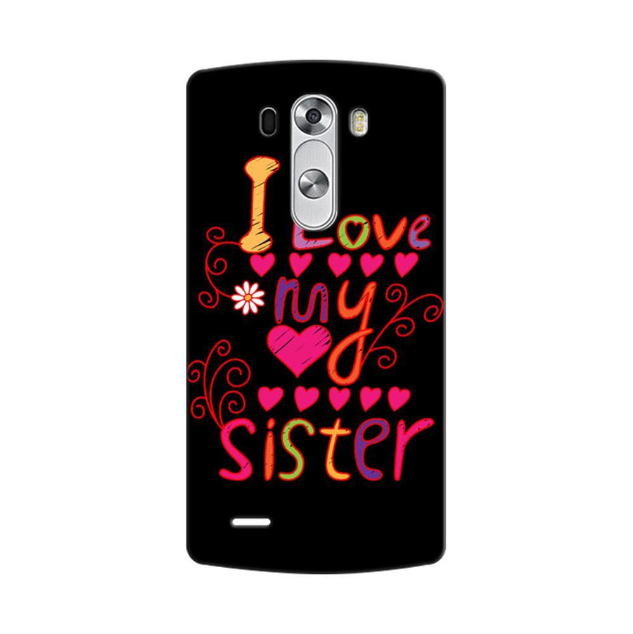 Mangomask LG G3 Stylus Mobile Phone Case Back Cover Custom Printed Designer Series Raksha Bandhan Rakhi I Love My Sister