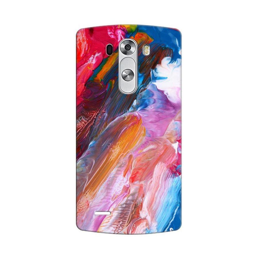 Mangomask LG G3 Stylus Mobile Phone Case Back Cover Custom Printed Designer Series Red And Blue Brush Strokes