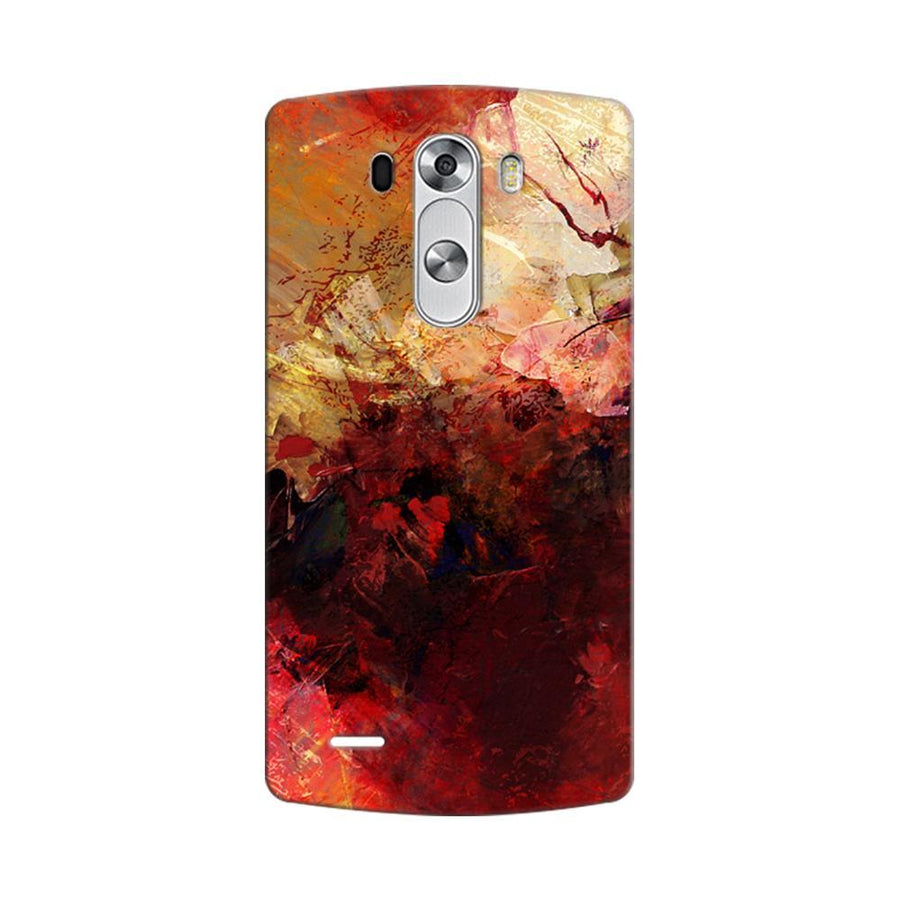 Mangomask LG G3 Stylus Mobile Phone Case Back Cover Custom Printed Designer Series Red And Gold Brush Strokes