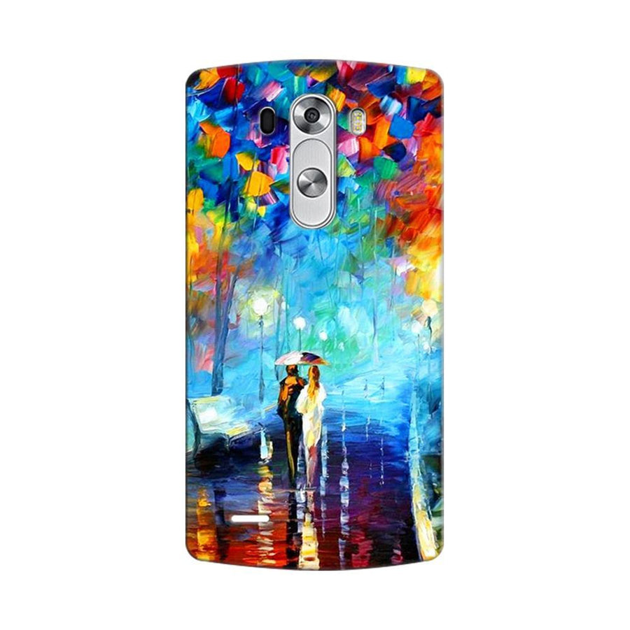 Mangomask LG G3 Stylus Mobile Phone Case Back Cover Custom Printed Designer Series Romantic Couple Walk