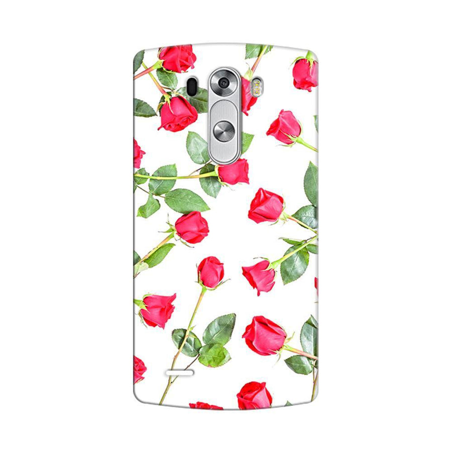 Mangomask LG G3 Stylus Mobile Phone Case Back Cover Custom Printed Designer Series Red Roses Floral