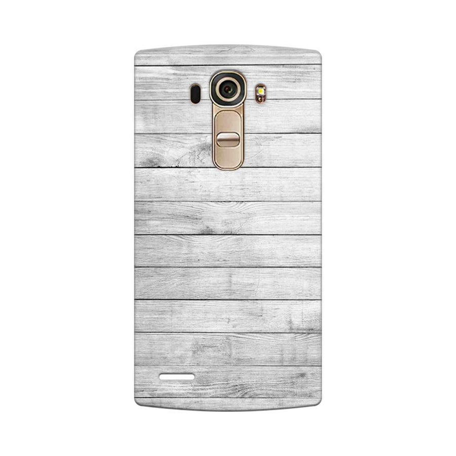 Mangomask LG G4 Mobile Phone Case Back Cover Custom Printed Designer Series White Wood Two