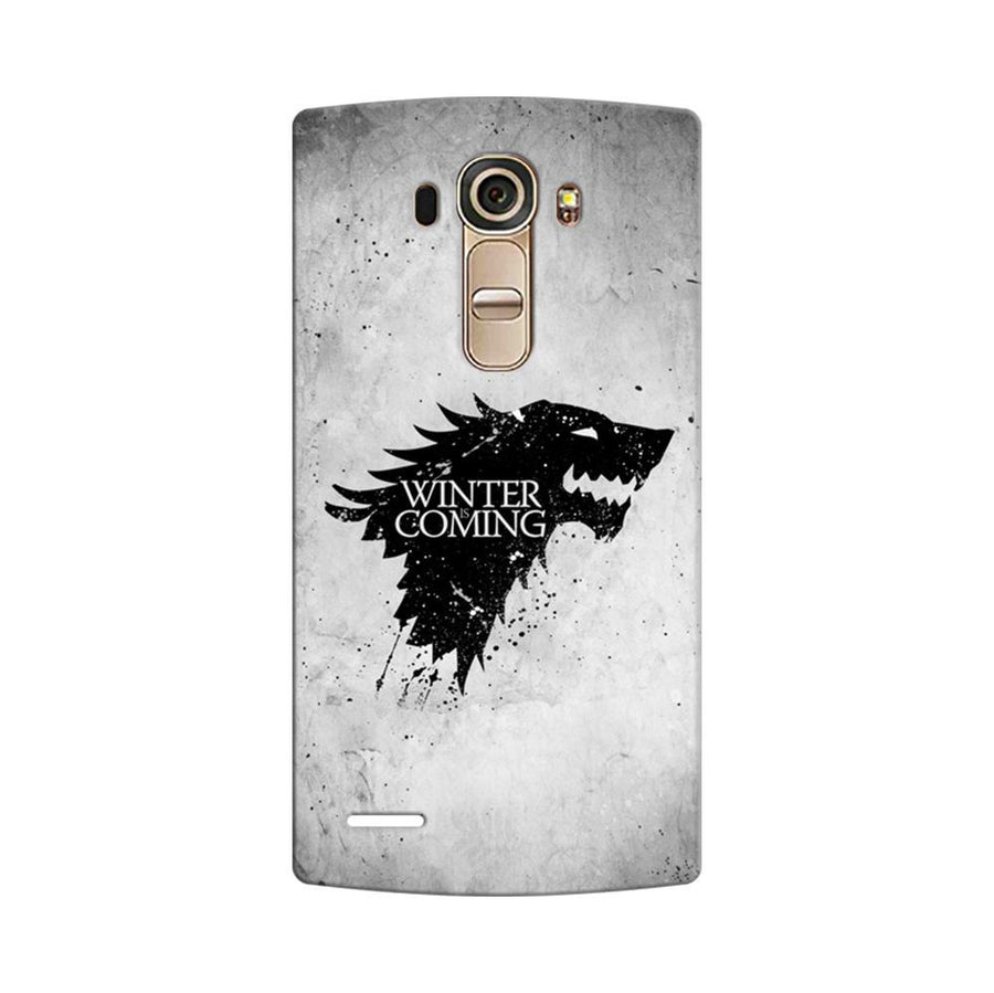 Mangomask LG G4 Mobile Phone Case Back Cover Custom Printed Designer Series White Winter Is Coming Game Of Throne (Got) House Stark