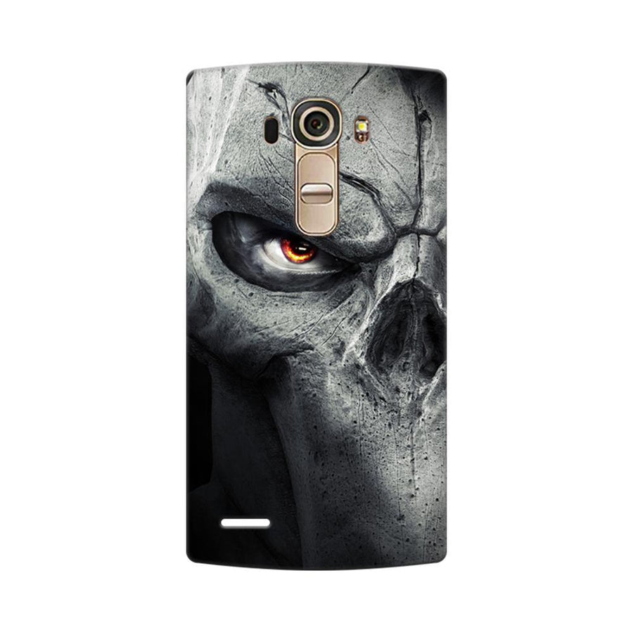 Mangomask LG G4 Mobile Phone Case Back Cover Custom Printed Designer Series Serious Skull