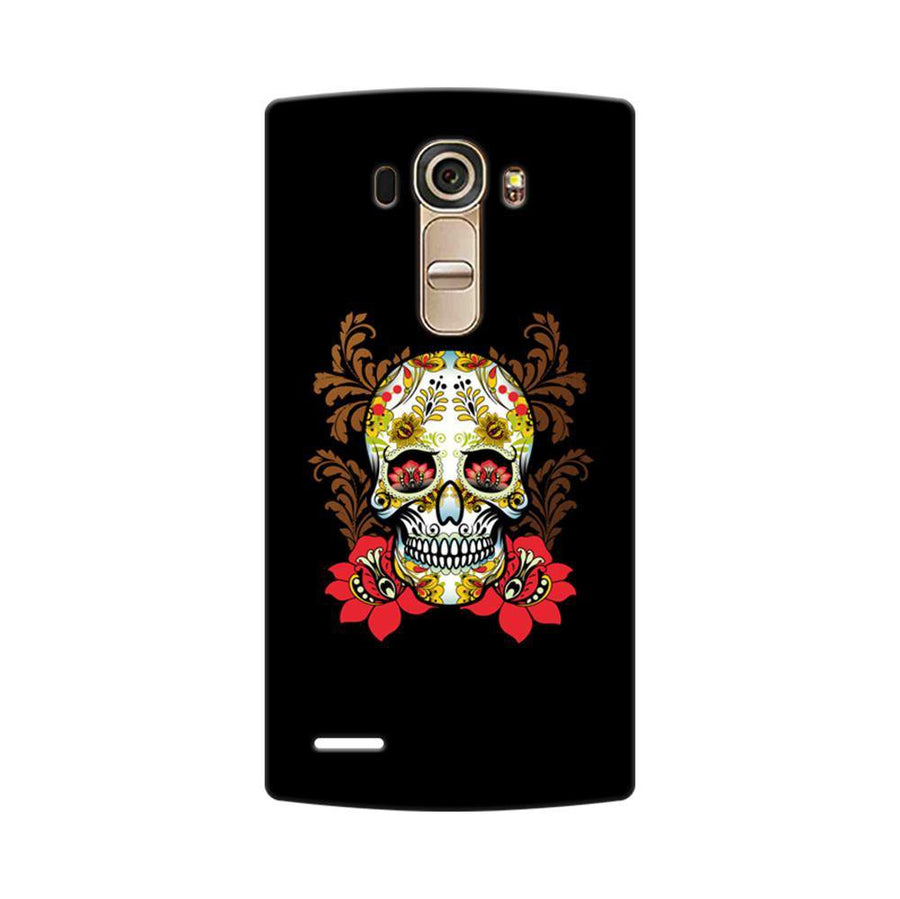 Mangomask LG G4 Mobile Phone Case Back Cover Custom Printed Designer Series Red Flowers Skull