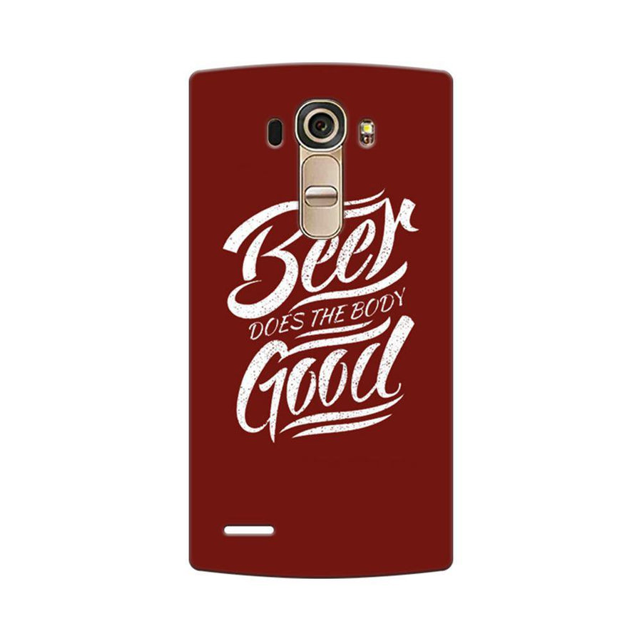 Mangomask LG G4 Mobile Phone Case Back Cover Custom Printed Designer Series Beer Is Good