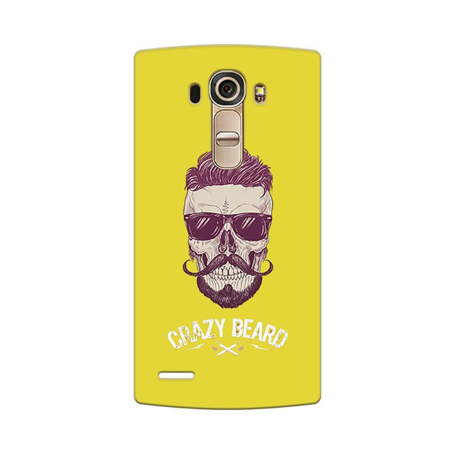Mangomask LG G4 Mobile Phone Case Back Cover Custom Printed Designer Series Yellow Hipster Skull