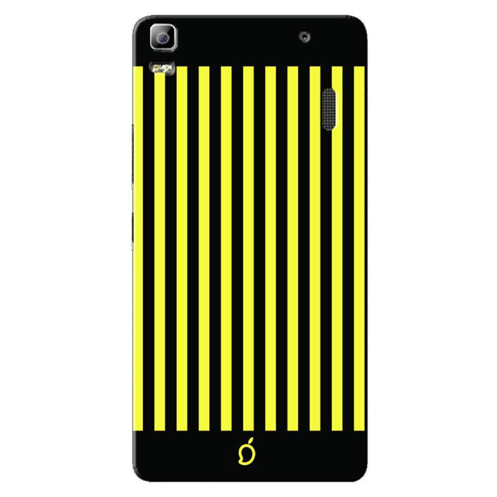 newest 2d523 9415e Mangomask Lenovo K3 Note Mobile Phone Case Back Cover Custom Printed Neon  Series Corn Yellow Striped Eight