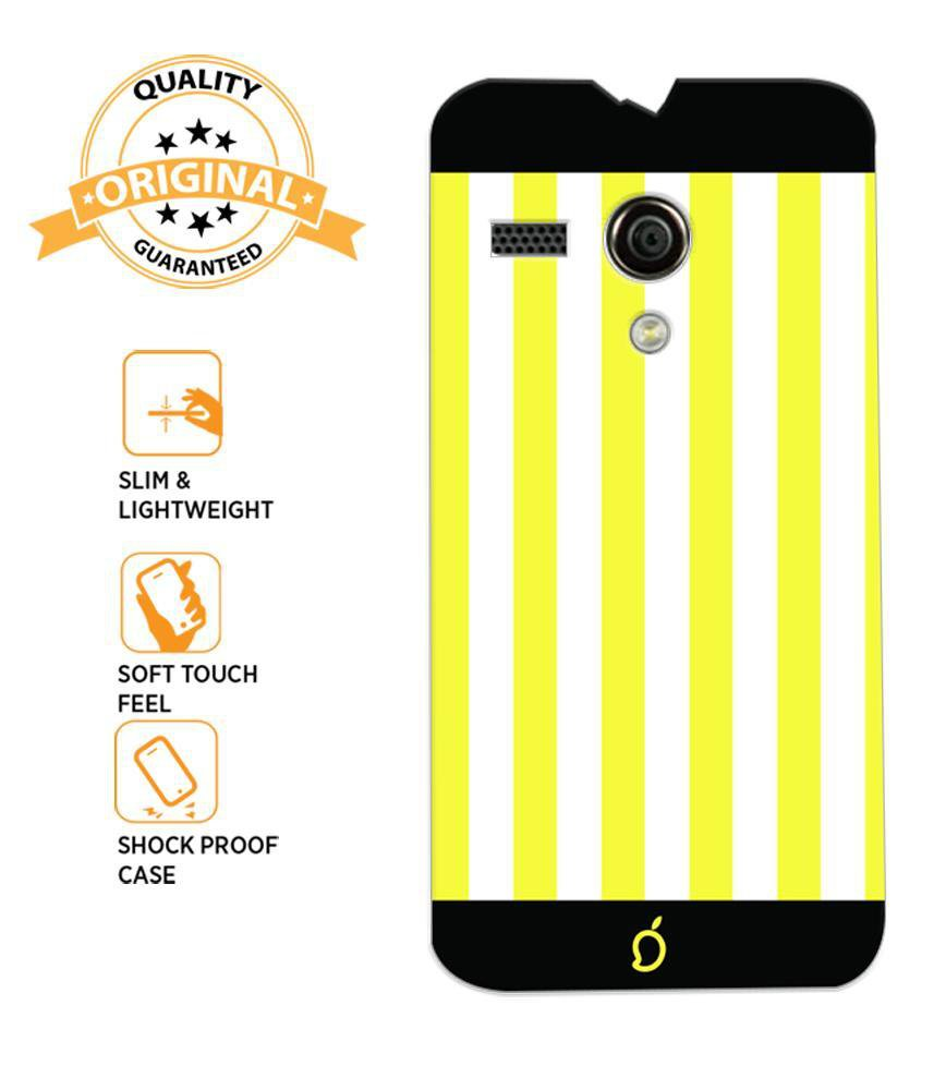 detailed look 9dd55 65ebc Mangomask Motorola Moto G Mobile Phone Case Back Cover Custom Printed Neon  Series Corn Yellow Striped Seven