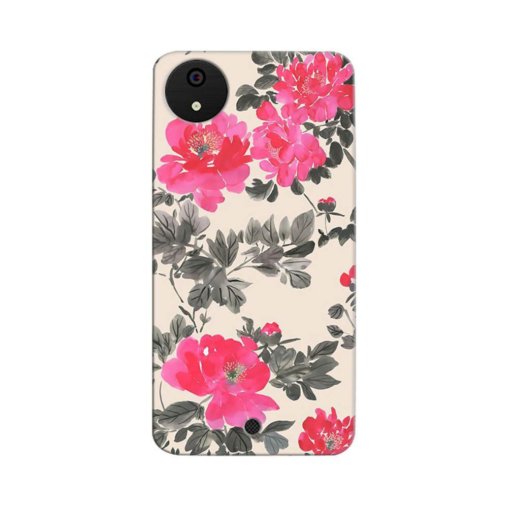 pretty nice 71018 99706 Mangomask Micromax Canvas A1 Mobile Phone Case Back Cover Custom Printed  Designer Series Pink And Black Floral