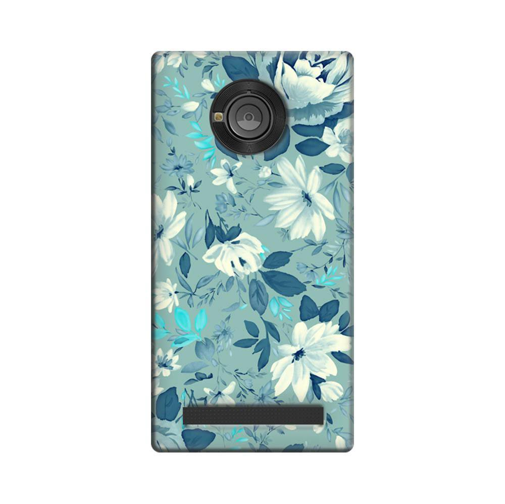 newest 3df5a ea02f Mangomask Micromax Yuphoria Mobile Phone Case Back Cover Custom Printed  Designer Series Blue Rose Floral