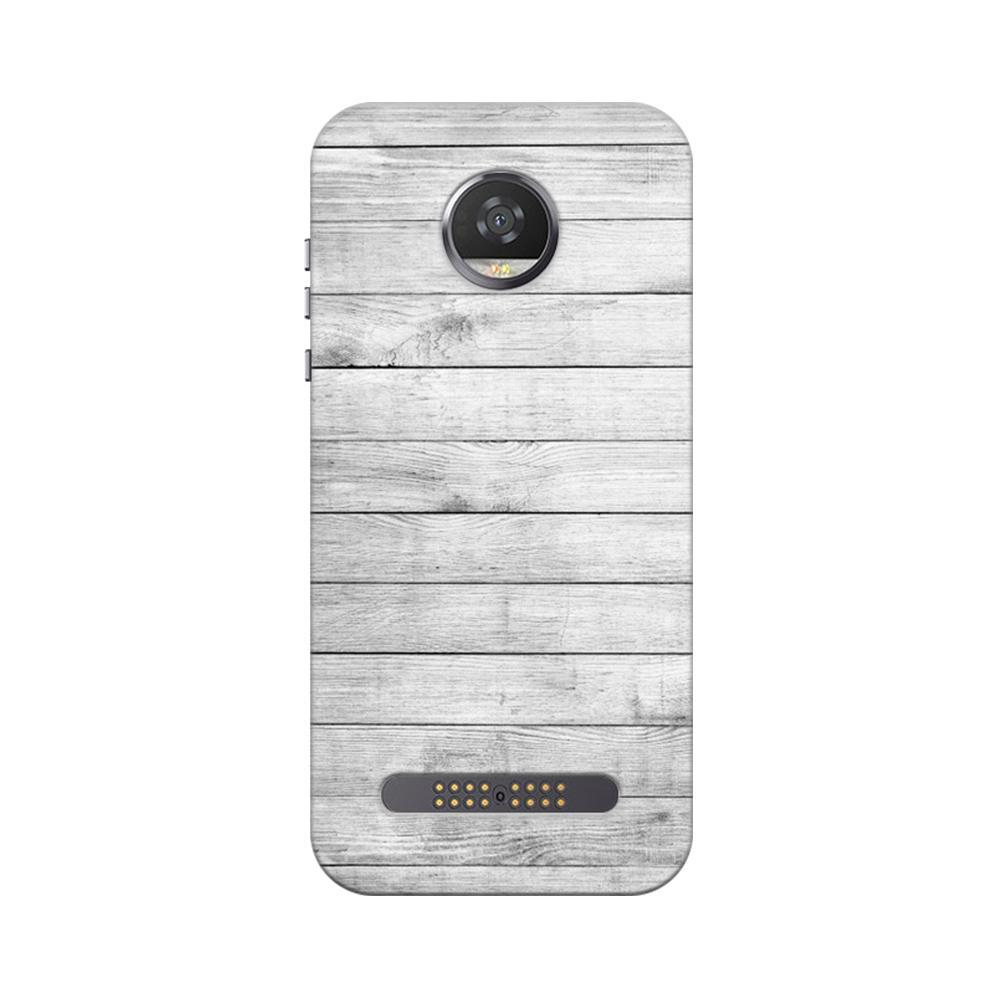 more photos fa67a 3602c Mangomask Motorola Moto Z2 Play Mobile Phone Case Back Cover Custom Printed  Designer Series White Wood Two