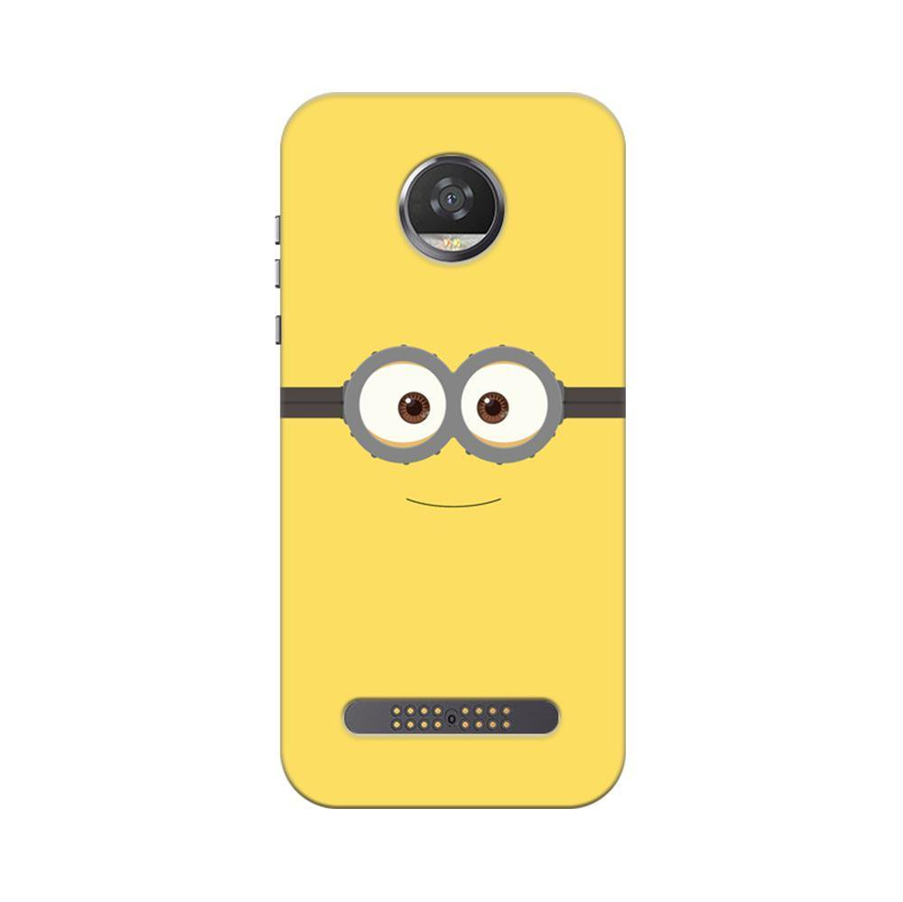 new style 04790 f4384 Mangomask Motorola Moto Z2 Play Mobile Phone Case Back Cover Custom Printed  Designer Series Minions On Despicable Me