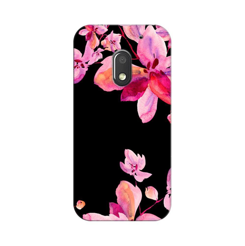 low priced fe270 e5f28 Mangomask Motorola Moto E3 Power Mobile Phone Case Back Cover Custom  Printed Designer Series Black And Pink Floral Two