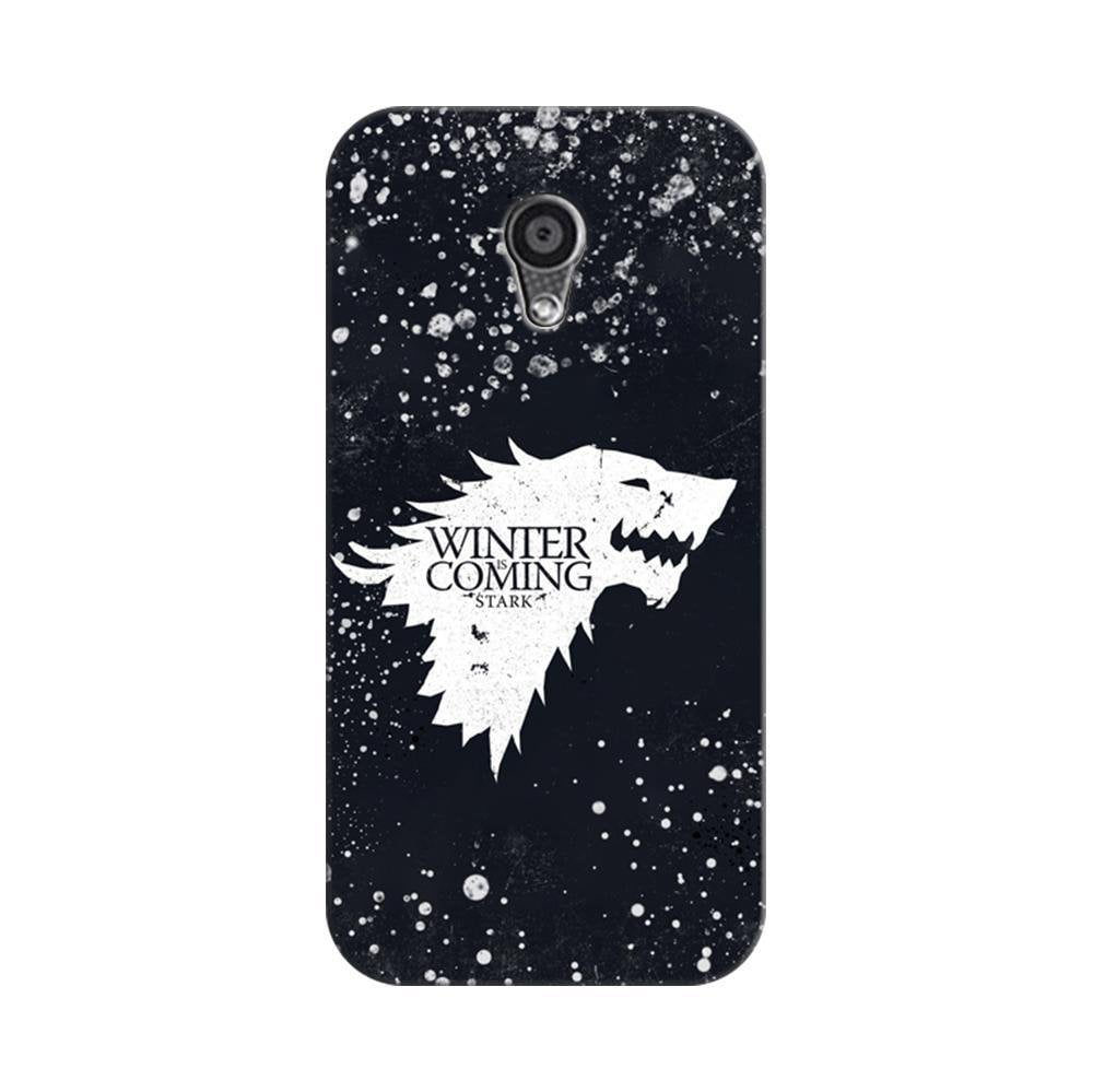 detailed look 34dc8 515c8 Mangomask Motorola Moto G2 Mobile Phone Case Back Cover Custom Printed  Designer Series Winter Is Coming Game Of Thrones House Stark