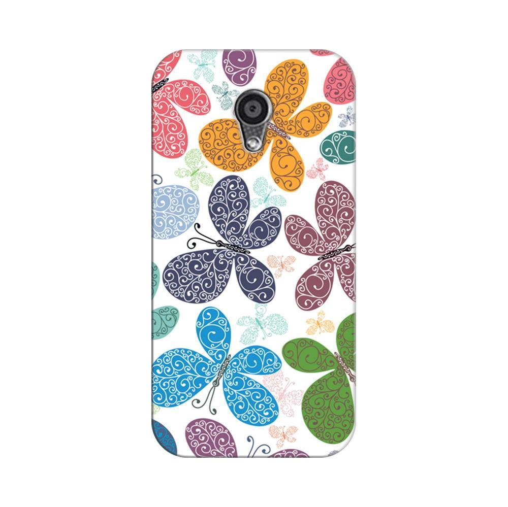 finest selection 4f6b2 491d7 Mangomask Motorola Moto G2 Mobile Phone Case Back Cover Custom Printed  Designer Series Cute Colour Butterflies