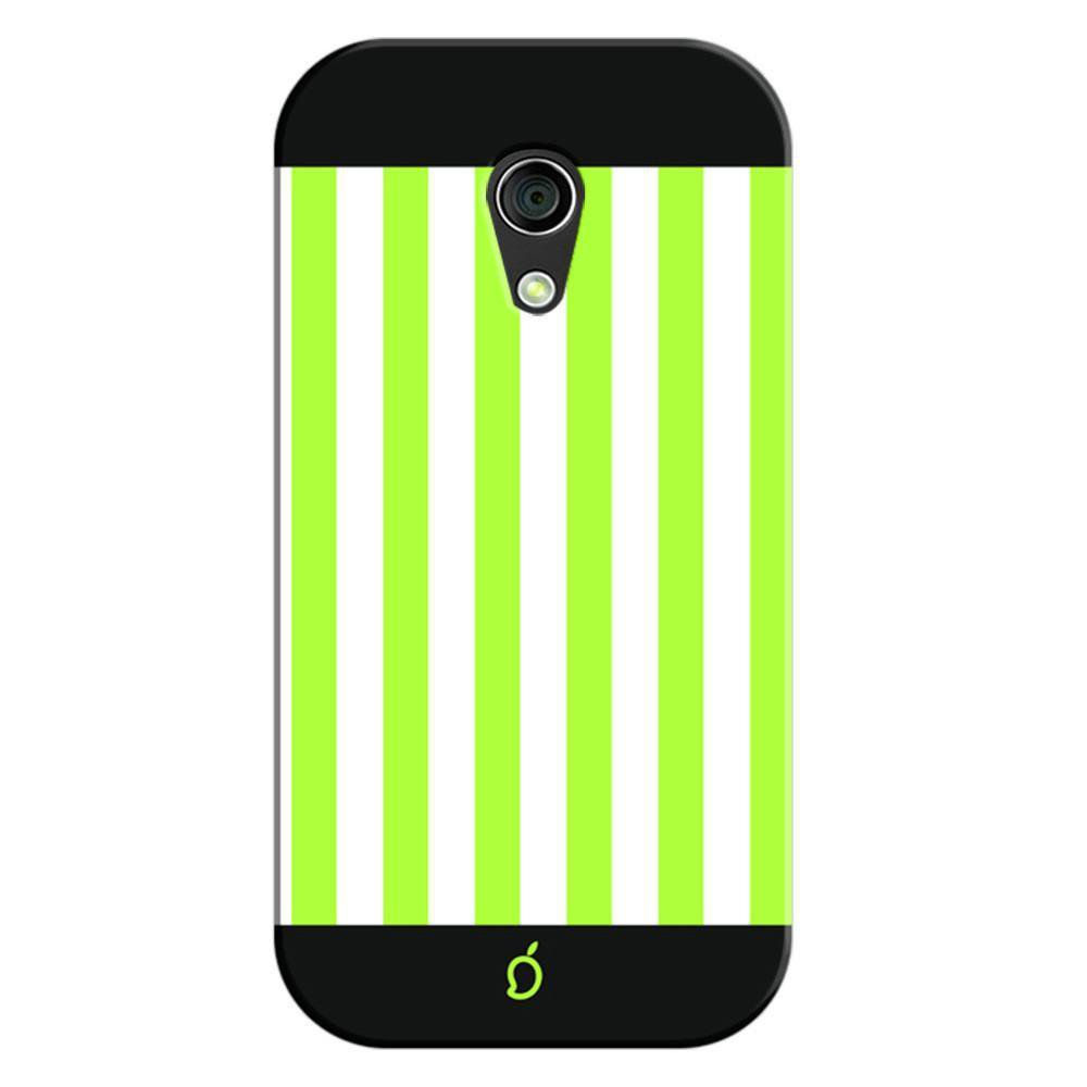 finest selection 78726 b52d2 Mangomask Motorola Moto G2 Mobile Phone Case Back Cover Custom Printed Neon  Series Inchworm Green Striped Seven
