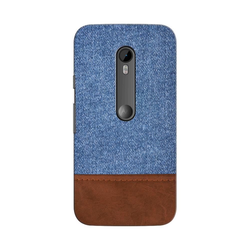 watch 5d0ed d24aa Mangomask Motorola Moto G3 / G Turbo Mobile Phone Case Back Cover Custom  Printed Designer Series Blue Leather Jeans