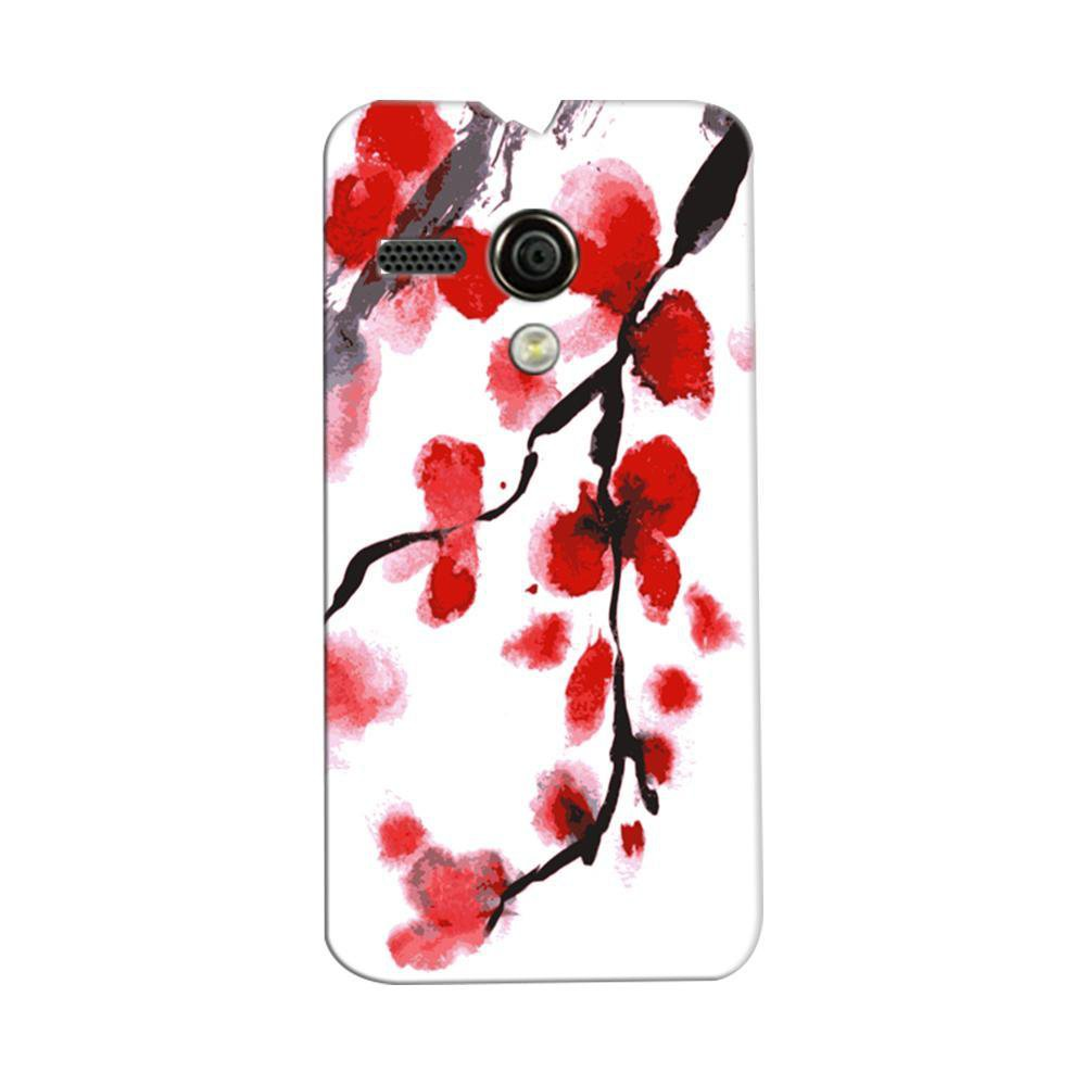 watch 094a7 49dd0 Mangomask Motorola Moto G Mobile Phone Case Back Cover Custom Printed  Designer Series Red And White Black Floral